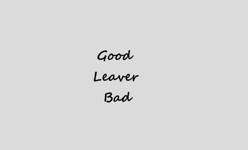 Good Leaver y Bad Leaver